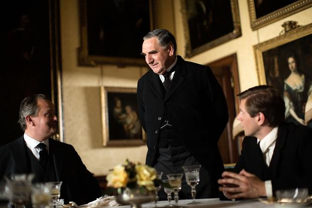 """Downton Abbey"" cast members include, from left,  Hugh Bonneville, Jim Carter and Allen Leech."