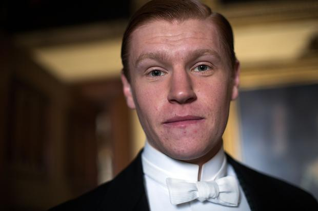 "Matt Milne plays Alfred the footman in the third season of period drama ""Downton Abbey."""