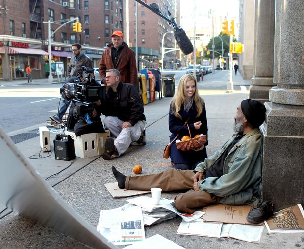"Dreama Walker on location in Manhattan for the filming of  ""Don't Trust the B-- in Apartment 23."""