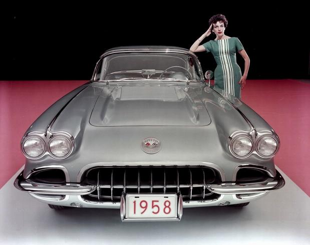 Dual headlights first appeared on the Corvette in 1958.