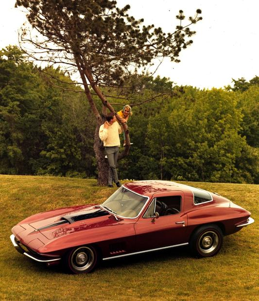 The 1967 Corvette was available with the powerful 427-cubic-inch engine rated at 435 horsepower.