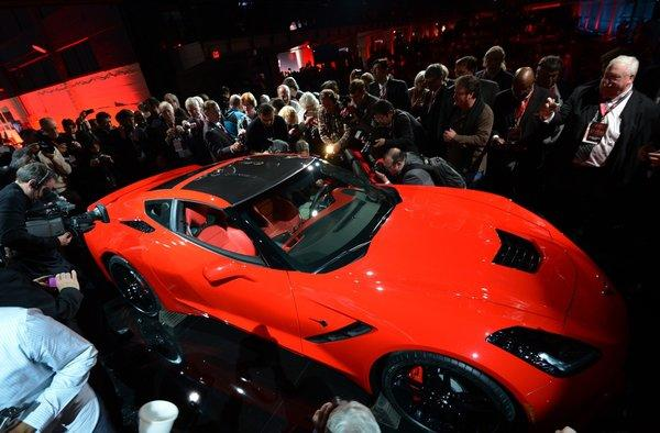 The redesigned 2014 Chevrolet Corvette Stingray is introduced at the 2013 North American International Auto Show in Detroit.
