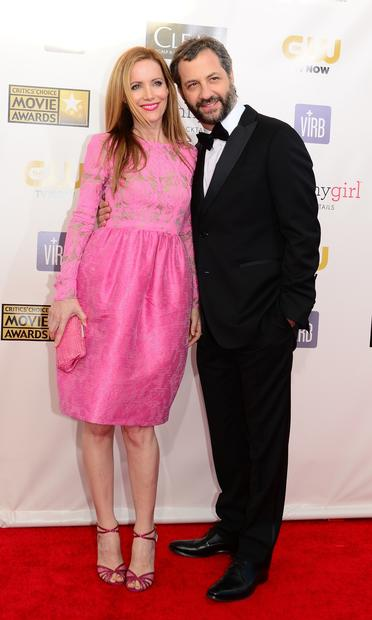 Director Judd Apatow and actress Leslie Mann