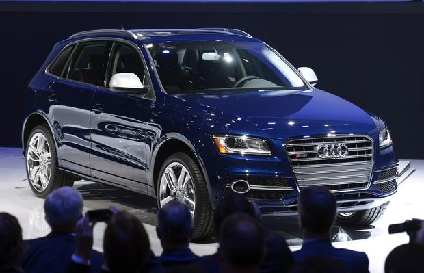 The 2014 Audi SQ 5 SUV is shown onstage during the media preview.
