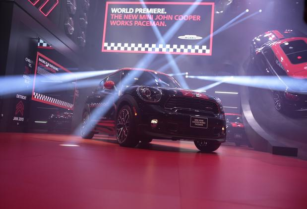 The Mini John Cooper Works Paceman is introduced at the 2013 North American International Auto Show.