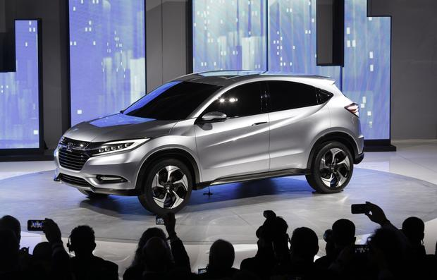 The Honda Urban SUV Concept is shown at media previews for the North American International Auto Show.