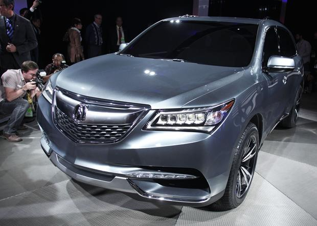 The 2014 Acura MDX Prototype is revealed.