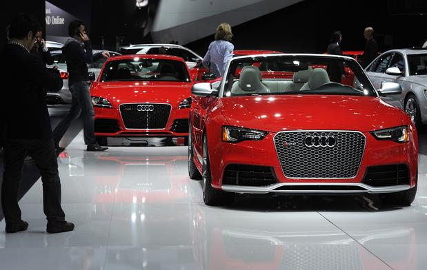 Show attendees view Audi vehicles.