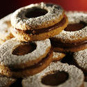 Hazelnut chocolate Linzer cookies