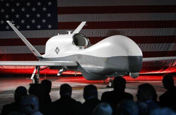 Northrop Grumman Corp. unveiled the first U.S. Navy MQ-4C Triton Broad Area Maritime Surveillance Unmanned Aircraft System (BAMS UAS) in a ceremony  at its Palmdale manufacturing facility last June.