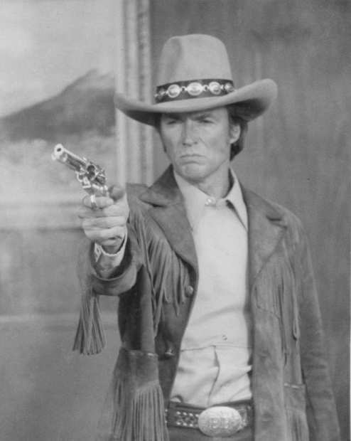"Clint Eastwood in ""Broncho Billy,"" 1980."