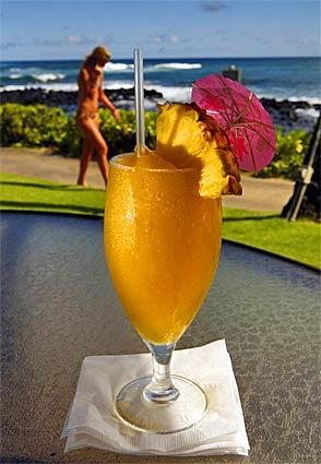 <b>Sheraton Kauai Point</b><br> <br> <b>Price:</b> $8 to $15<br> <br> <b>Scoping it out:</b> Watch a golden sun sink into a crashing sea while you celebrate the good life with an umbrella drink and an order of kalua pork nachos at this indoor-outdoor resort restaurant in Poipu. The salads, sandwiches and appetizers here fit into our budget, but if you indulge in multiple tropical drinks, you may have to go hungry for a day. But, oh, the joy of sitting on an oceanfront patio sipping a mojito or a mai tai as you listen to the surf and the rustle of palm trees.