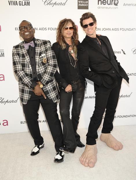 Television personality Randy Jackson, left, singer Steven Tyler, center, and actor Jim Carrey.