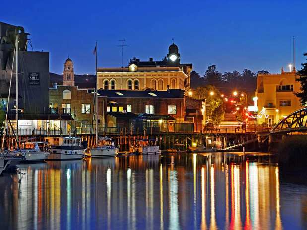 Petaluma gleams above the harbor in the heart of downtown. The small town is about 40 miles north of San Francisco.