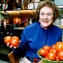 Julia Child at home in Cambridge, Mass.