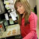 Hungry Girl Lisa Lillien in the test kitchen