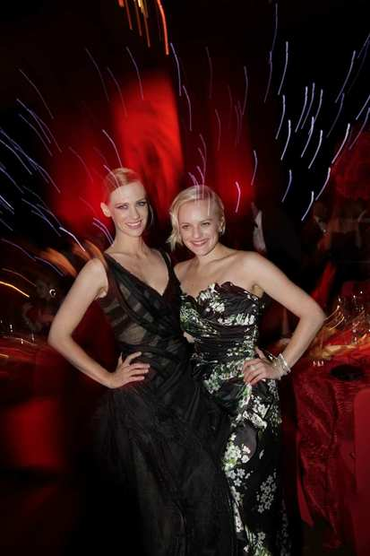 """Mad Men"" actresses January Jones, left, and Elisabeth Moss.<br><style type=""text/css"">