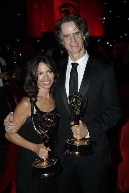 """Game Change"" director Jay Roach, right, and his guest.<br><style type=""text/css"">