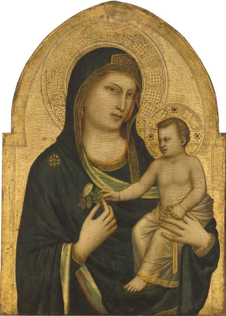"""Madonna and Child,"" about 1320-1330; tempera on panel by Giotto di Bondone, about 1267-1337."