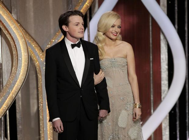 Sam Fox, left, is Mister Golden Globe 2013. Francesca Eastwood is Miss Golden Globe 2013.