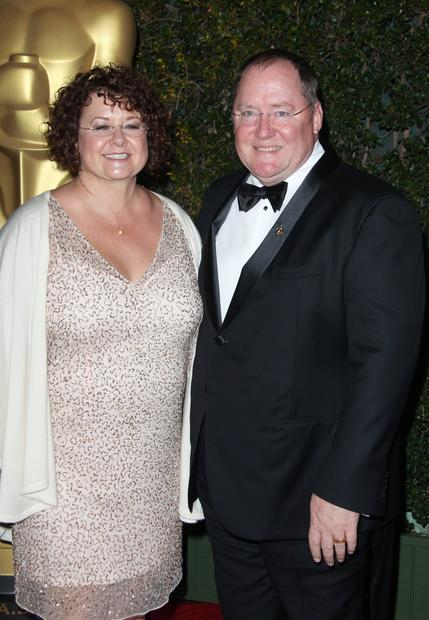 Director John Lasseter and wife Nancy.