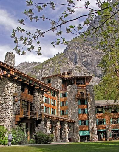 "Where once stood a Miwok village in Yosemite Valley, the Ahwahnee's stacked boulders and heavy beams serve park visitors who carry fat wallets and plan well ahead. (Reservations for the 99 hotel rooms and 24 cottages disappear fast.) For a glimpse of its grand public rooms, reserve a meal or just walk through. Info: (801) 559-4884, <a href=""http://www.yosemitepark.com/Accommodations_TheAhwahnee.aspx"">http://www.yosemitepark.com/Accommodations_TheAhwahnee.aspx</a>."