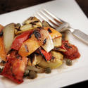 Grilled summer vegetables with brown-butter vinaigrette