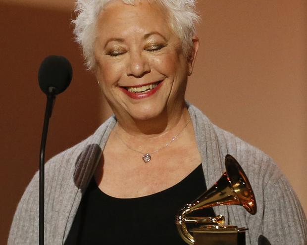 "Musician and author Janis Ian accepts her Grammy for spoken-word album for ""Society's Child: My Autobiography"" during the pre-telecast show."