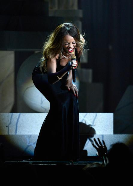 "Rihanna performs her song ""Stay."""