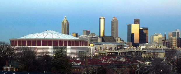 Georgia Dome, left, was a venue during the Atlanta Olympics.
