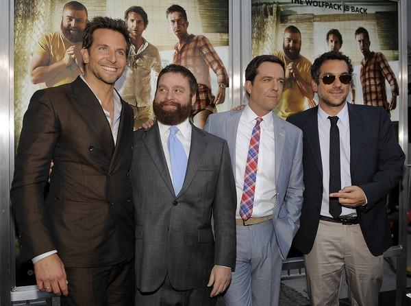 "From left, cast members Bradley Cooper, Zach Galifianakis and Ed Helms pose with Todd Phillips, director and co-writer of the film at the <a href=""http://latimesblogs.latimes.com/gossip/2011/05/the-hangover-2-premiere-bradley-cooper-zach-galifianakis-ken-jeong-ed-helms.html"">Hollywood premiere</a> of ""The Hangover Part II"" at Grauman's Chinese Theatre. In the sequel to the 2009 hit, Justin Bartha, Cooper and Galifiankis head to Thailand to celebrate Helms' bachelor party. The revelry comes to a head when the men lose Helms' future brother-in-law."