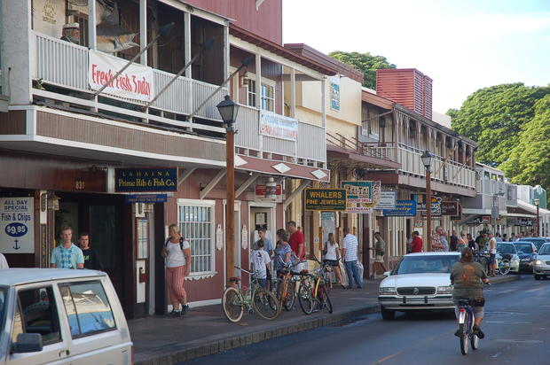 Lahaina, once a whaling town, has become a tourism hot spot, with dozens of souvenir shops and restaurants aimed at travelers.