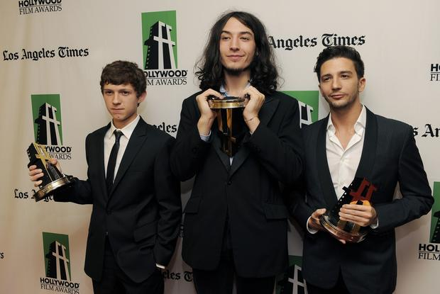 Recipients of the Hollywood spotlight award: Actors Tom Holland, left, Ezra Miller and John Magaro.