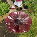 Amy Brenneman's children's garden: Decorative glass flower
