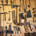Some of Patrice Pinaquy's antique tools