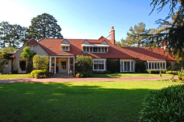 The Country English-style house Phyllis Diller had lived in since 1965 sits on 1.25 flat acres.
