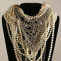 Tom Binns' tiered crystal and pearls necklace.