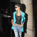 Rhianna in distressed jeans