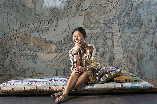 Los Angeles-based fashion designer Christina Kim says her imagination is spurred by the discipline of working with finite resources.<br> <br> <b>More in Image:</b><br>