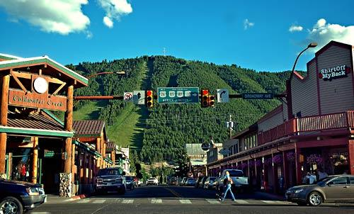 The view is green and lovely in Jackson, Wyo., the population center of the 50-mile-long valley known as Jackson Hole.