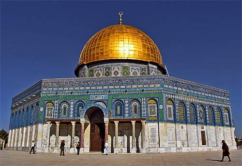 The Dome of the Rock, built circa AD 685 and 691, sits atop ground that is sacred to both Jews and Muslims.