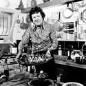 Julia Child making a salade nicoise