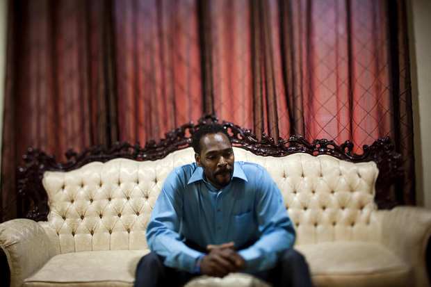 Rodney King at his home in Rialto.