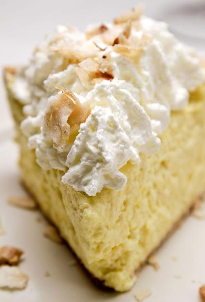 Coconut cream pie is among the traditional desserts.