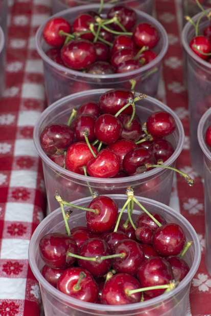 Tulare cherries grown by Erickson Farms of Fresno.