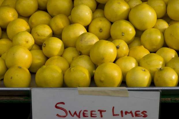 Sweet limes grown by Pritchett Farms in Visalia.