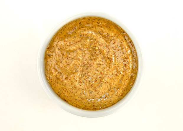 "Beer and Caraway mustard. <a href=""http://www.latimes.com/features/food/la-fo-mustardrec2-20111124,0,285153.story"">Recipe</a>"