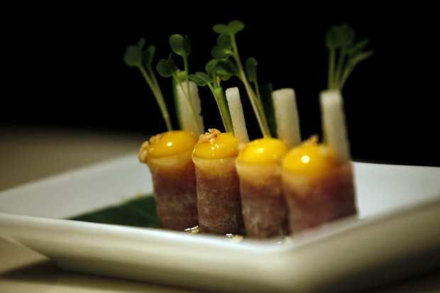 Chef Janee Kim's beautiful take on beef tartar.