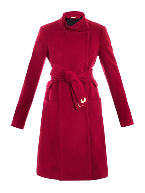Diane von Furstenberg's Sabrina coat ($883) from Matchesfashion.com in fuchsia will add a breath of life to any winter wardrobe in need of a pop of color.