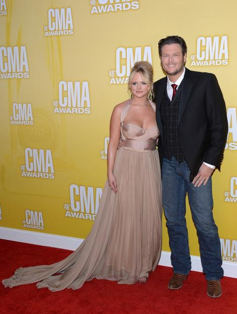Miranda Lambert and Blake Shelton.